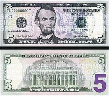 5美元面值图片