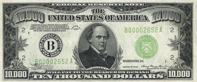 10000美元面值图片