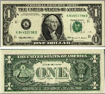 1美元面值图片