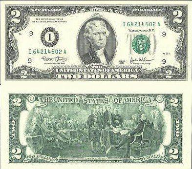 2美元面值图片