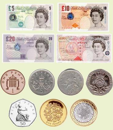 英镑面额都有哪些?