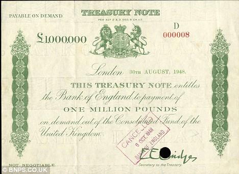 百万英镑的钞票收藏介绍