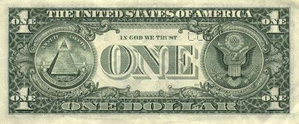 1美元纸币背面图案介绍