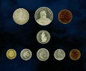 瑞士法郎硬币介绍