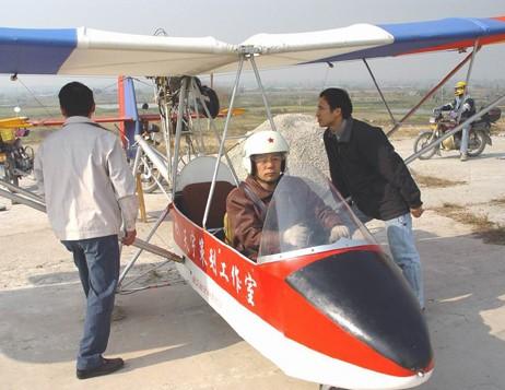 """国产""""蜜蜂""""3C飞机 售价17万的超轻型飞机"""