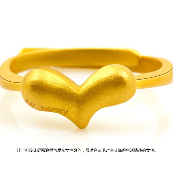 越王珠宝3D硬金优雅甜美活口戒指图片_珠宝图片