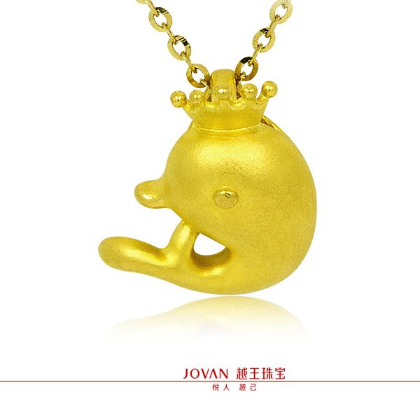 越王珠宝3D硬金可爱甜美海豚吊坠图片_珠宝图片