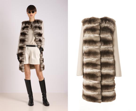 Agnona银狐毛大衣 触摸得到的极致奢华