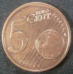5分欧元硬币介绍