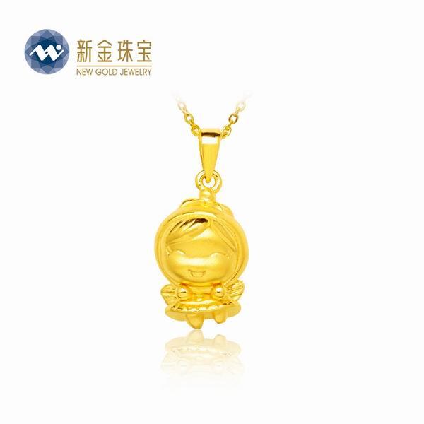 新金珠宝Au999黄金福星宝宝吊坠图片_珠宝图片