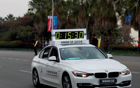 新宝马3系领跑2014厦门国际马拉松赛