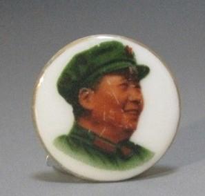 福建德化白瓷毛主席像章
