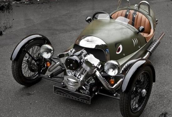 复古设计 摩根汽车三轮车将于5月8日上市