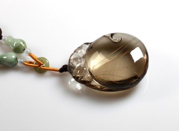 茶水晶真假鉴别