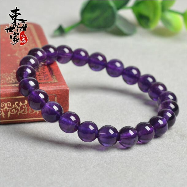 东海世家紫罗兰色乌拉圭紫水晶手链图片_珠宝图片