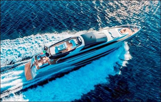 法拉帝旗下「Riva Mythos Sol 122'」游艇举行发布会