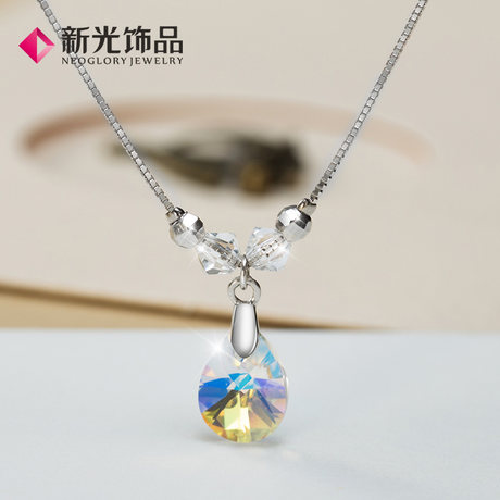 新光饰品925纯银饰水晶脚链图片_珠宝图片