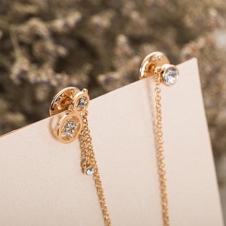 新光饰品铜钱福禄葫芦水晶链条胸针图片_珠宝图片