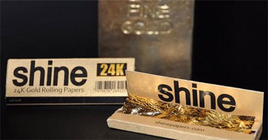 真实土豪的专属 24K黄金打造的卷烟纸