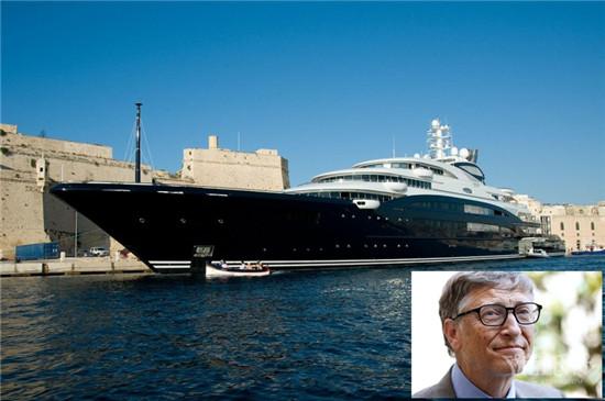 比尔·盖茨携家人乘3.3亿美元豪华游艇度假