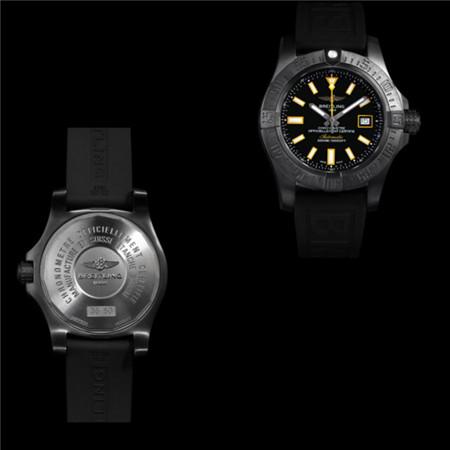 百年灵复仇者深潜海狼系列名表推出全新黑钢限量版
