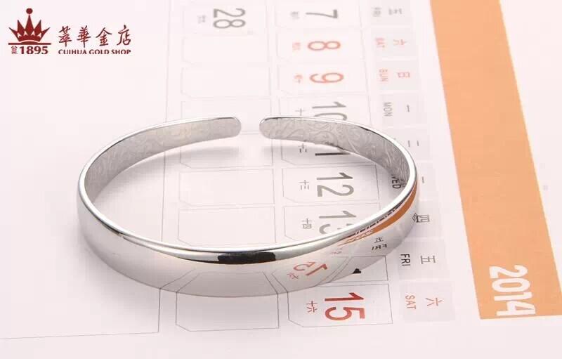 萃华金店S999银光面儿童手镯图片_珠宝图片