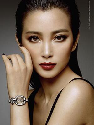 李冰冰代言Gucci全新「Horsebit」系列腕表广告