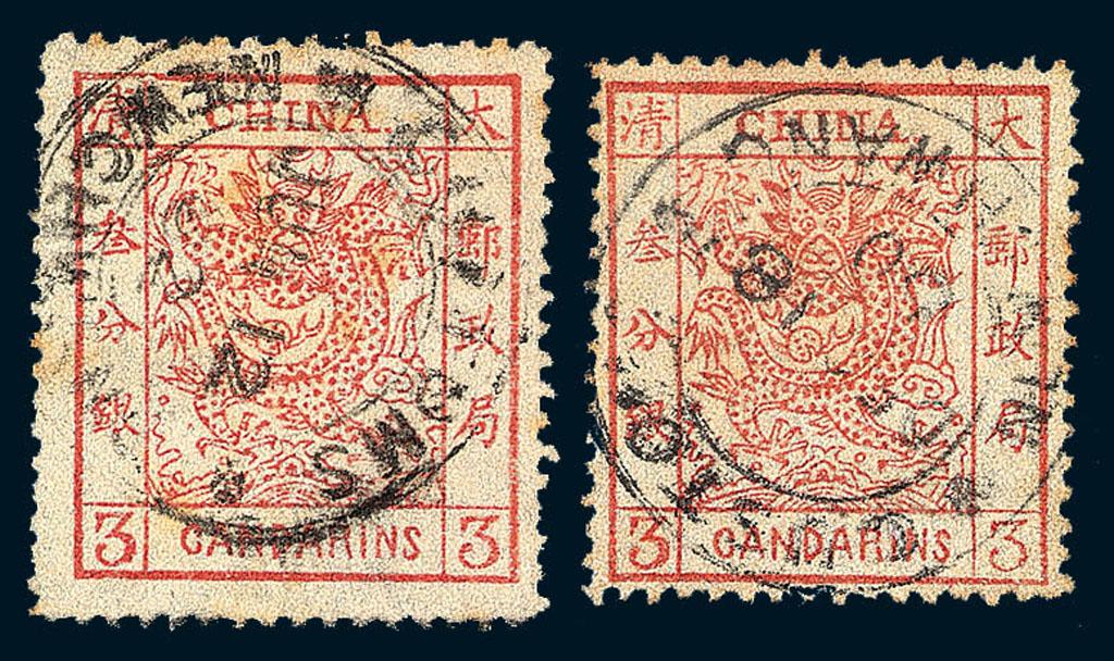 大龙邮票的票面设计