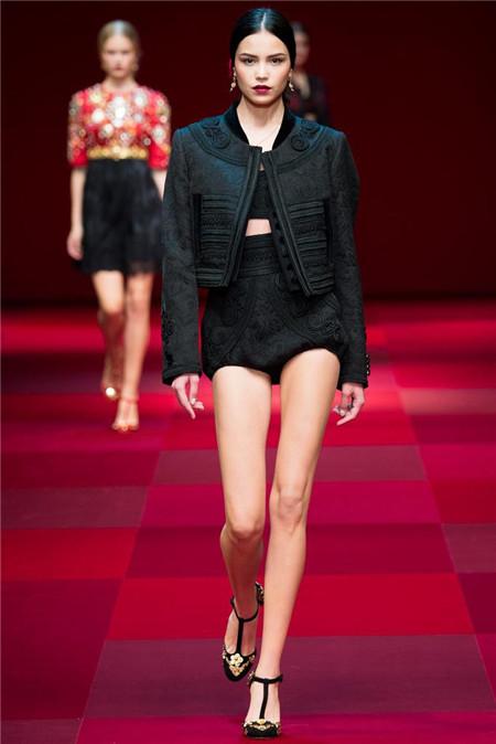 杜嘉班纳米兰时装周发布2015年春夏系列高级成衣
