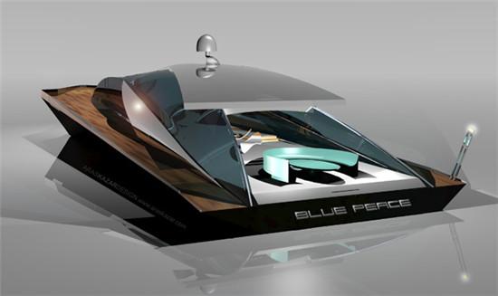 Aras Kazar推出全新「Blue Peace」概念动力游艇