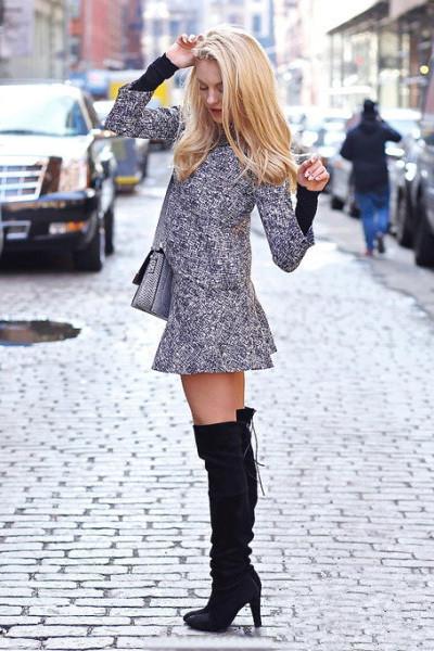 秋日穿衣搭配技巧示范 黑白搭配起来瘦身效果瞬间出