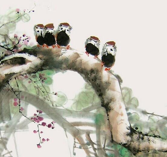 花鸟画风格传统