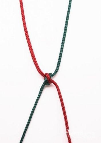 红绳项链编法图解