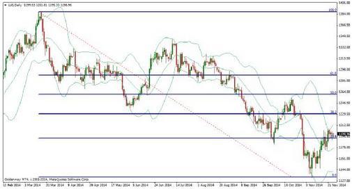 国际黄金价格预计12月中会重启大熊跌势
