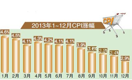 2013年CPI指数
