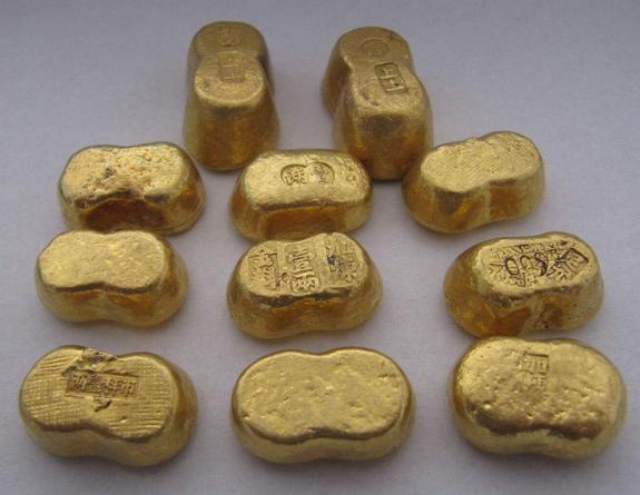 古代金元宝图片赏析