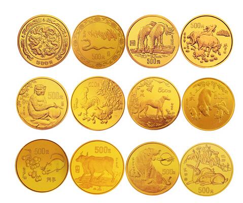 十二生肖金币图片赏析
