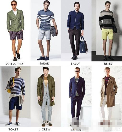 你应该知道的 2015春夏男装服装流行趋势