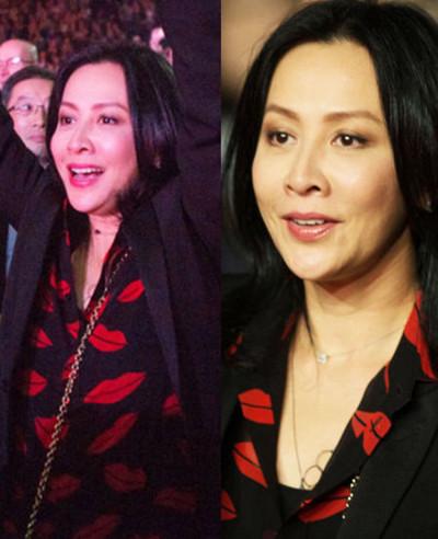 刘嘉玲撞衫桂纶镁 女神同穿红唇衣谁更性感?