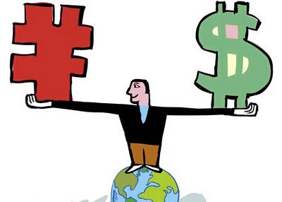 人民币对美元升值