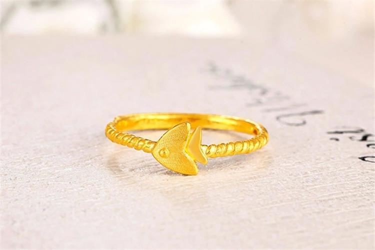 爱迪尔珠宝金小鱼活口结婚定制钻石戒指_珠宝图片