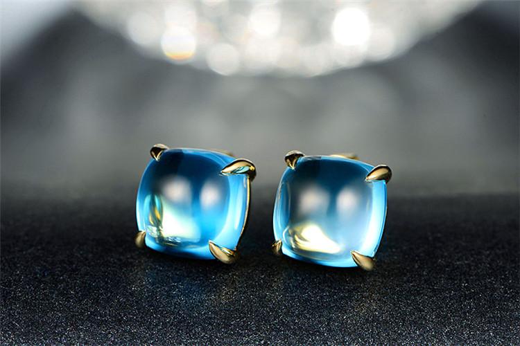 米莱珠宝白18K金15.5克拉求婚钻石耳环_珠宝图片