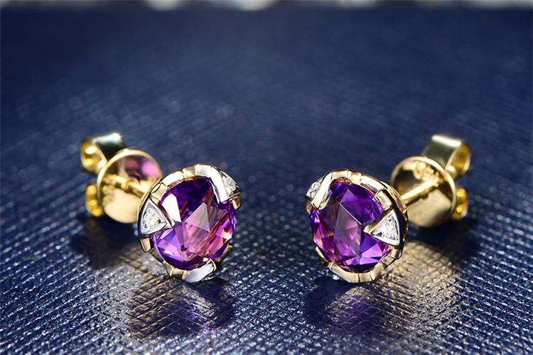 米莱珠宝白18K金1.8克拉求婚钻石耳环_珠宝图片