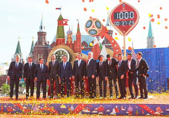 宇舶表为2018年世界杯隆重揭幕官方倒计时钟