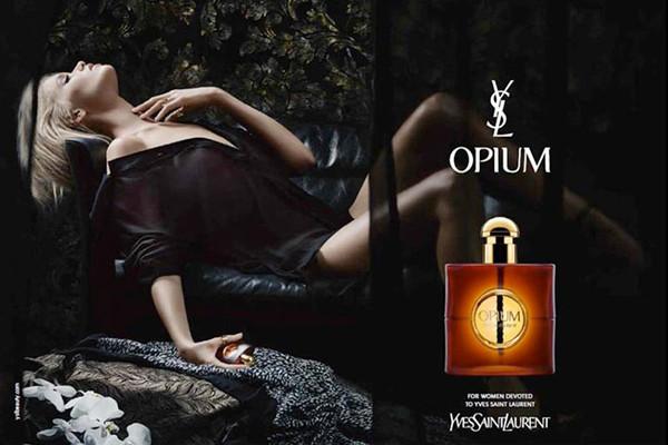 圣罗兰推出「Opium 鸦片」香水全新广告大片