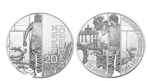 """最佳银币:""""柏林墙倒塌25周年"""""""