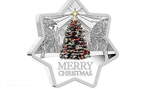 纪念币上的圣诞节