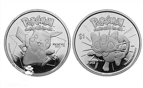 最萌硬币,皮卡丘和Hellokitty