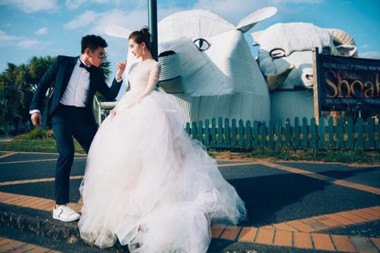 吴奇隆刘诗诗婚礼现场 6架私人直升机空运花艺