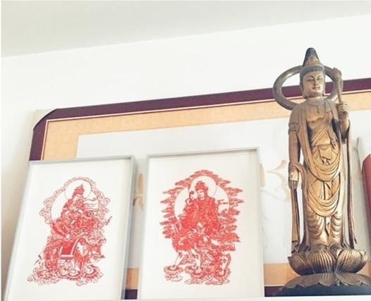 陈坤雅致豪宅内景 鲜花佛像传统雅致有禅意